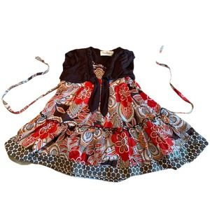 RARE EDITIONS dress with cardigan 2T